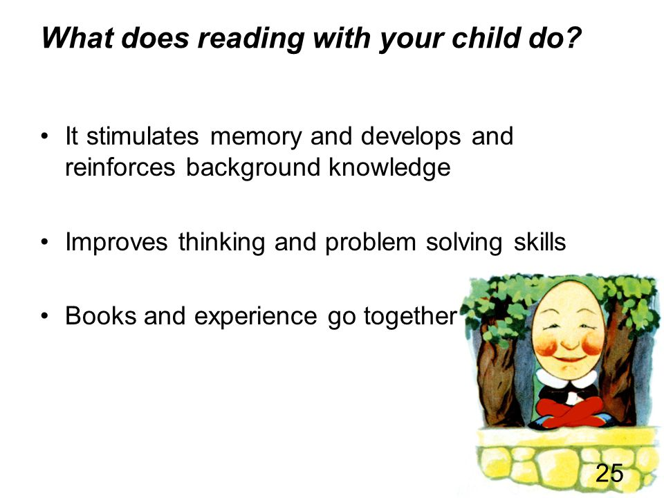 What does reading with your child do