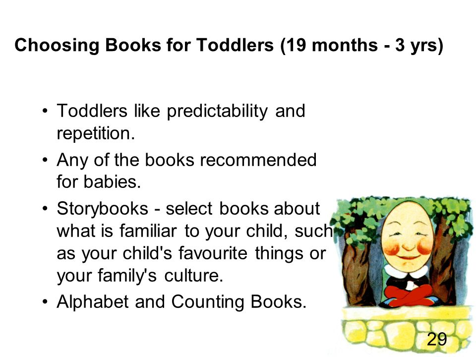 Choosing Books for Toddlers (19 months - 3 yrs)