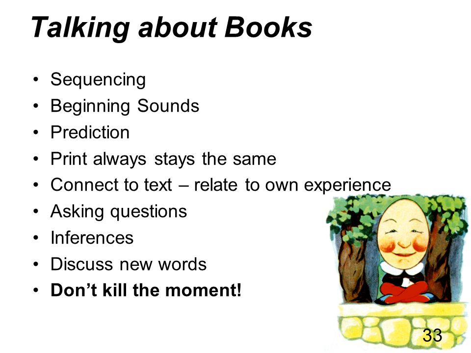 Talking about Books Sequencing Beginning Sounds Prediction