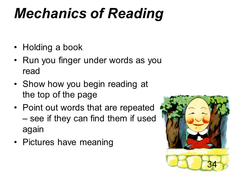 Mechanics of Reading Holding a book
