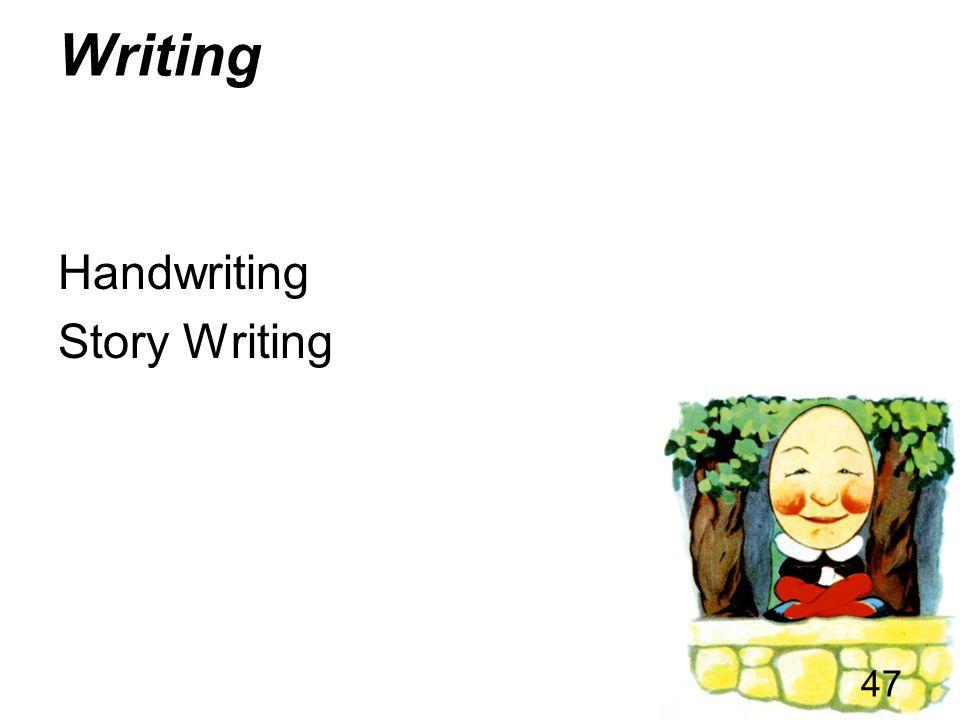 Writing Handwriting Story Writing
