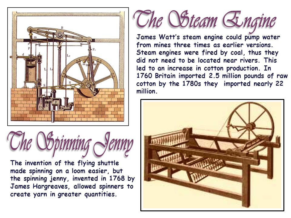 The Steam Engine The Spinning Jenny
