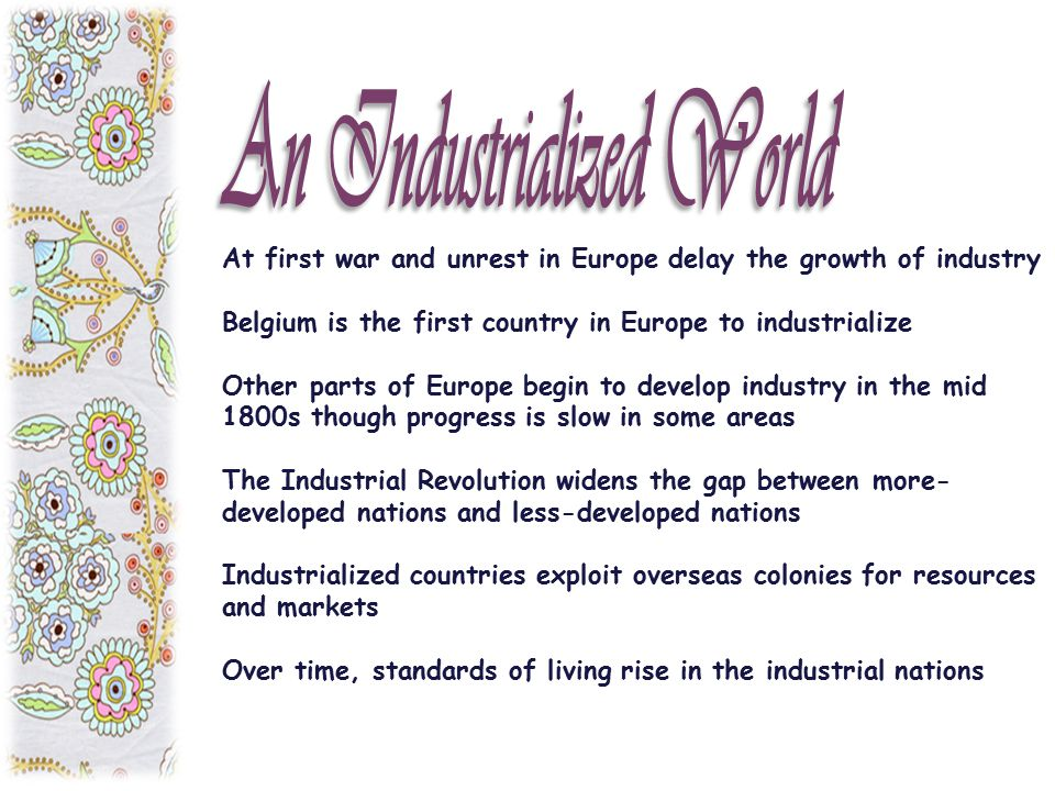 An Industrialized World