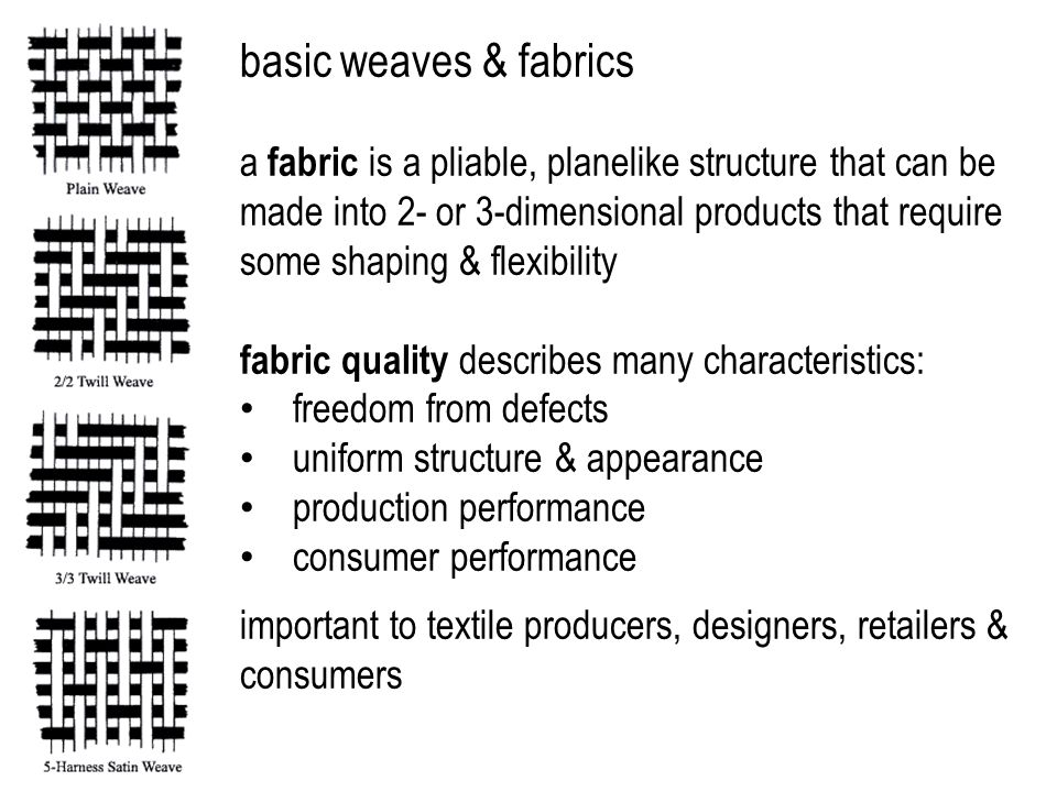 basic weaves & fabrics