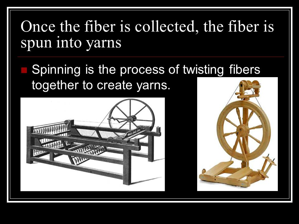 Once the fiber is collected, the fiber is spun into yarns