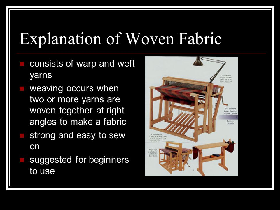 Explanation of Woven Fabric