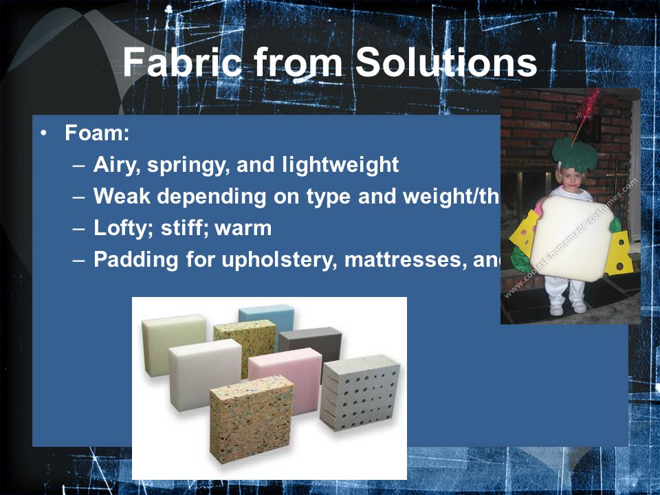 Fabric from Solutions Foam: Airy, springy, and lightweight