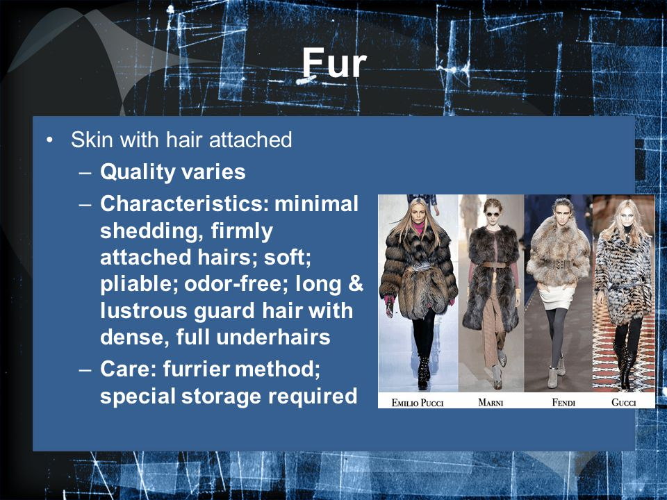 Fur Skin with hair attached Quality varies