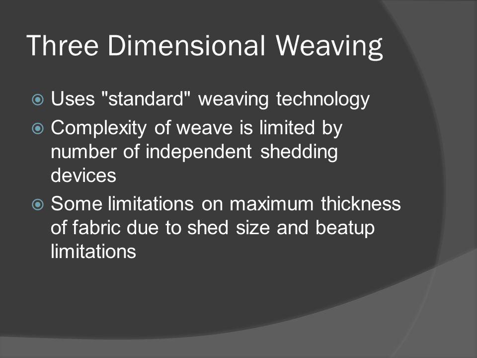 Three Dimensional Weaving