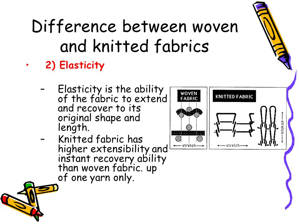 Difference between woven and knitted fabrics