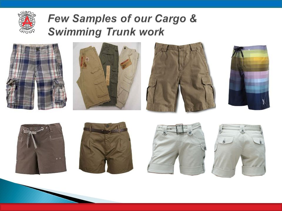 Few Samples of our Cargo & Swimming Trunk work