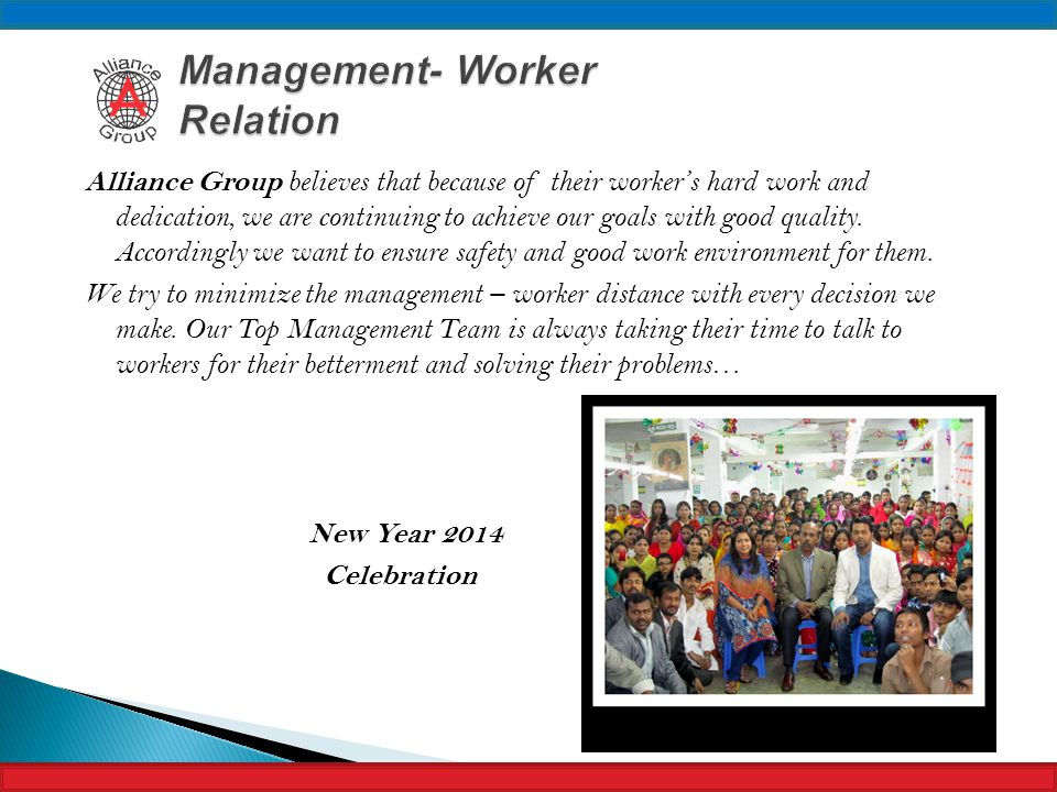 Management- Worker Relation