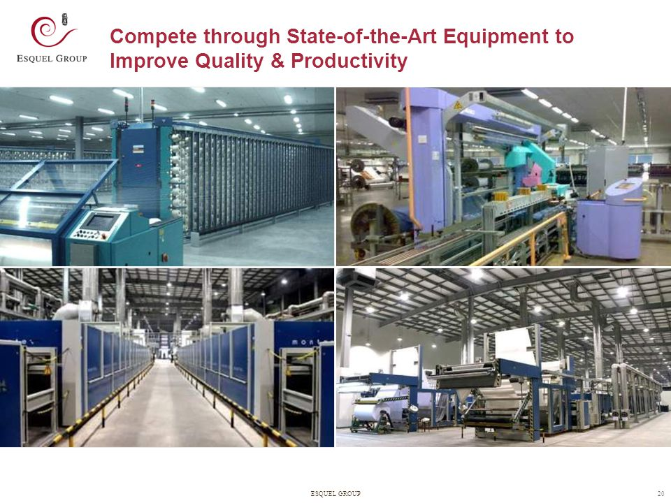 Compete through State-of-the-Art Equipment to