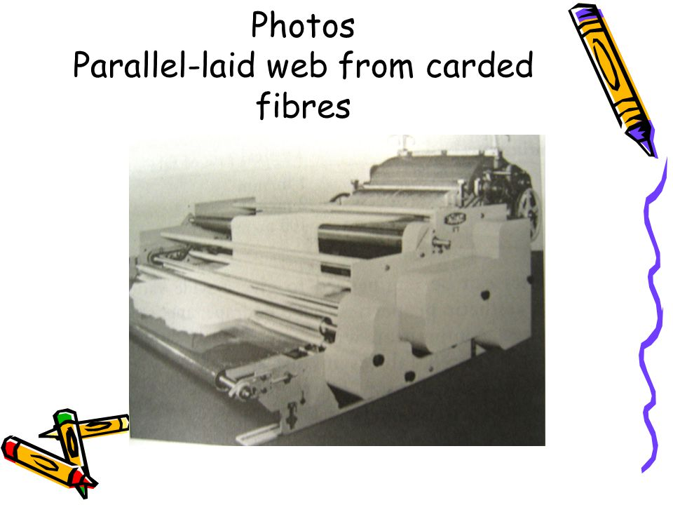Photos Parallel-laid web from carded fibres
