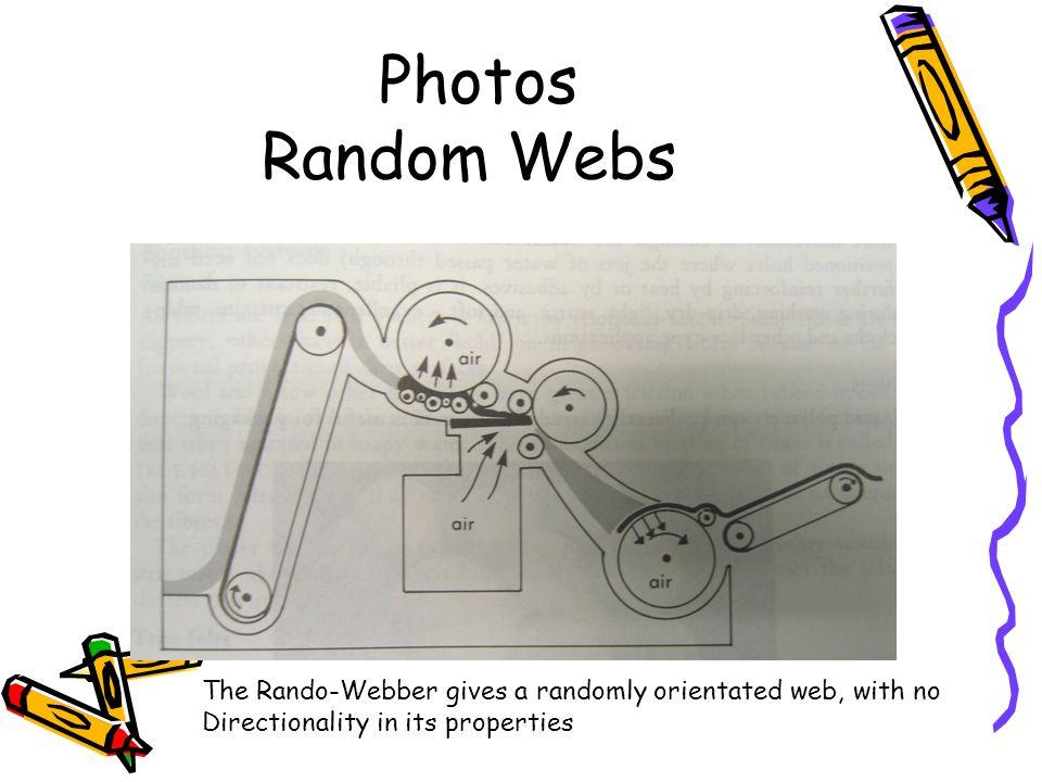 Photos Random Webs The Rando-Webber gives a randomly orientated web, with no.