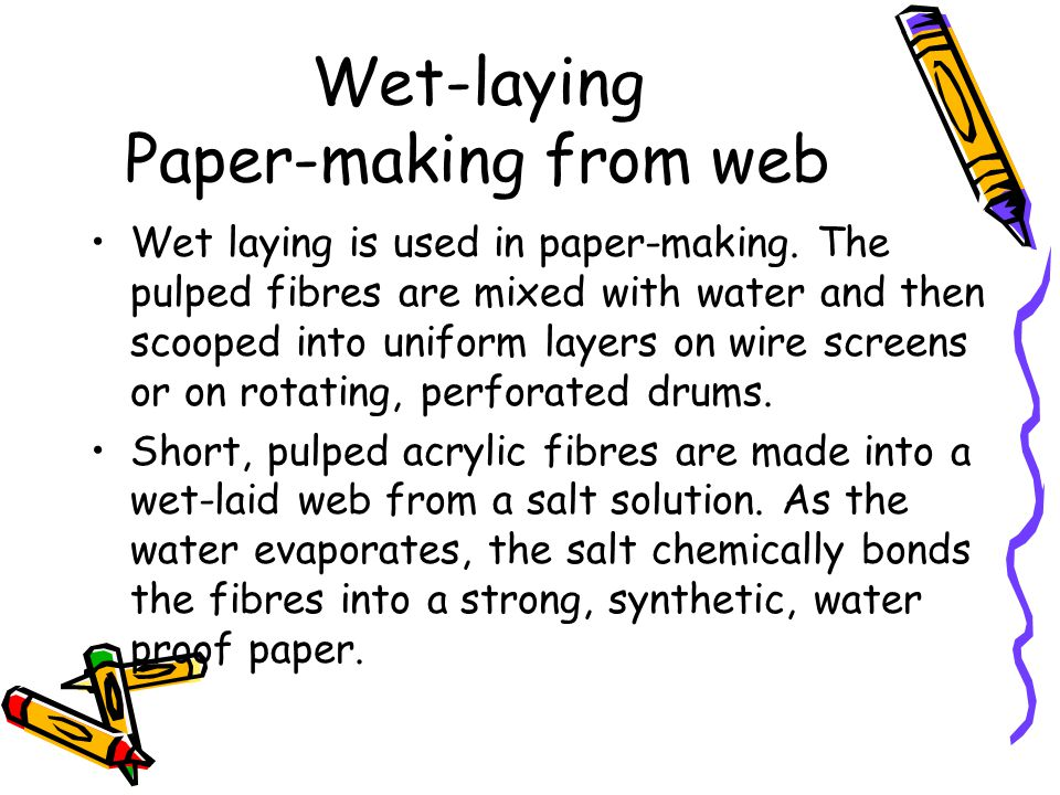 Wet-laying Paper-making from web