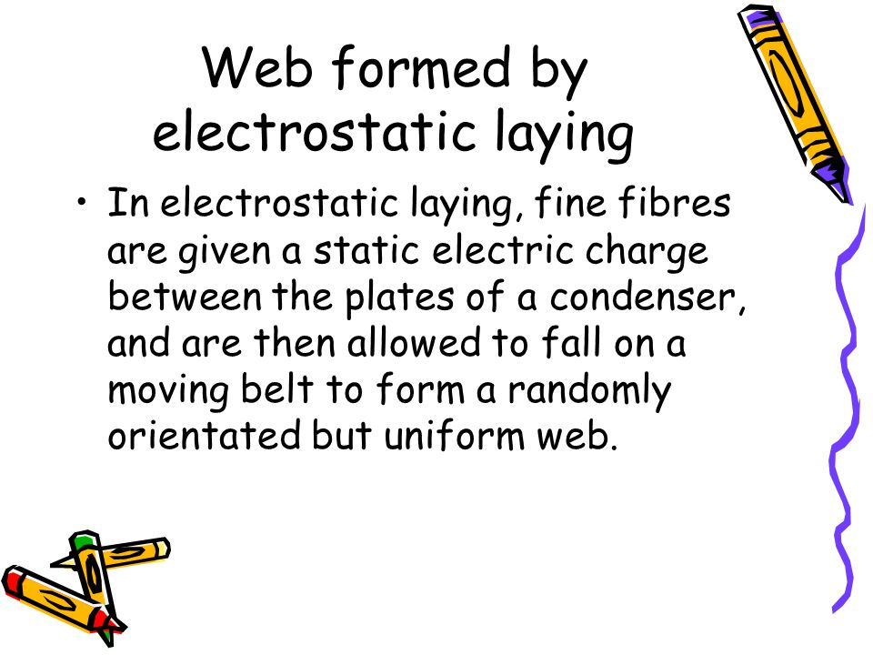 Web formed by electrostatic laying