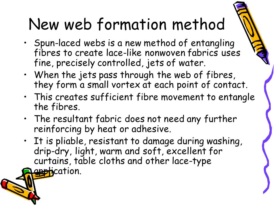 New web formation method
