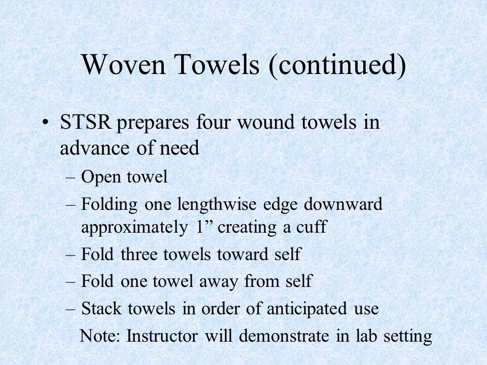 Woven Towels (continued)