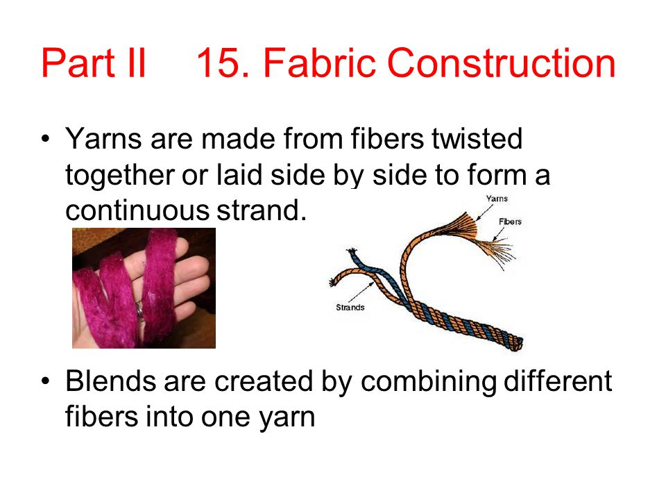 Part II 15. Fabric Construction
