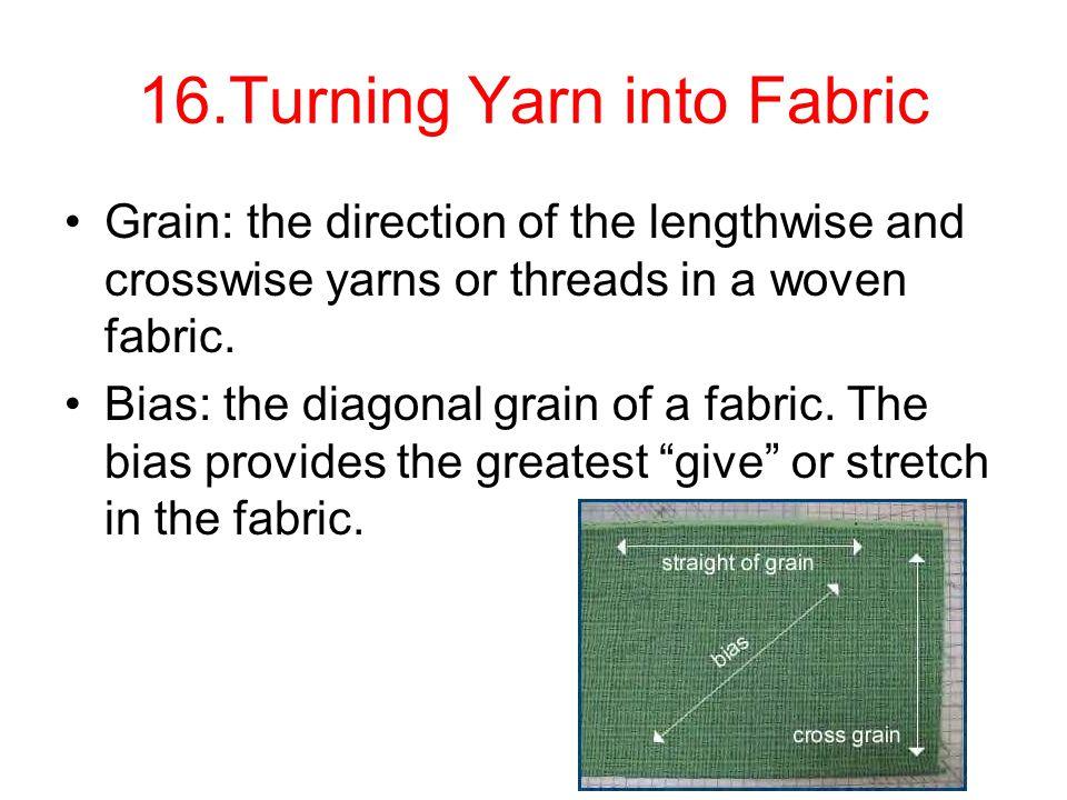 16.Turning Yarn into Fabric