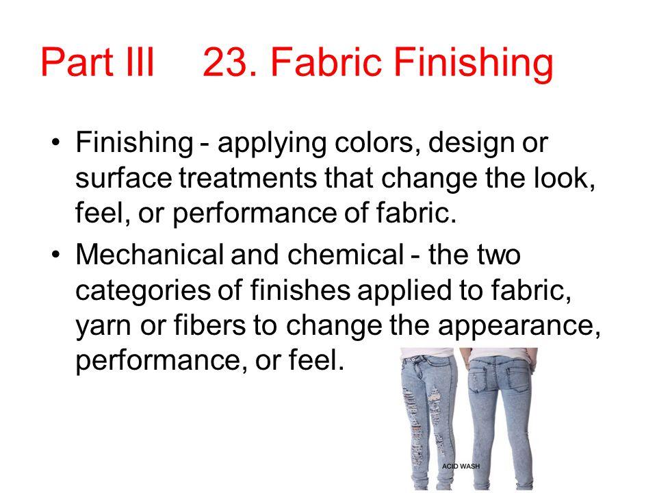 Part III 23. Fabric Finishing