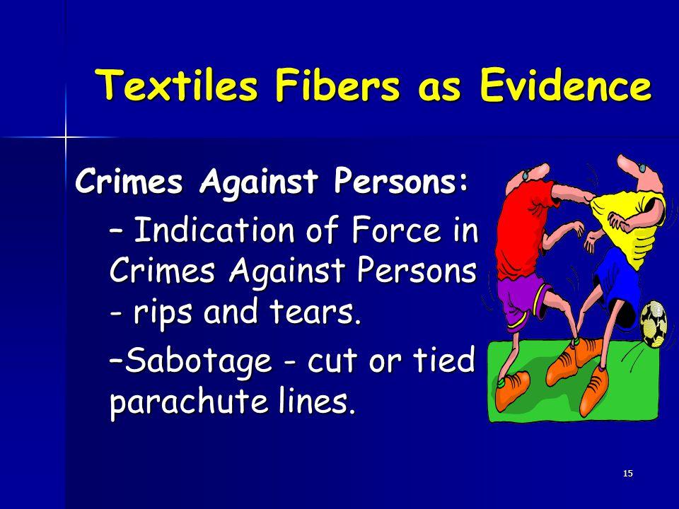 Textiles Fibers as Evidence
