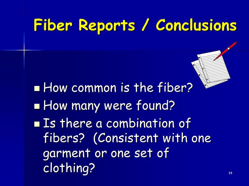 Fiber Reports / Conclusions