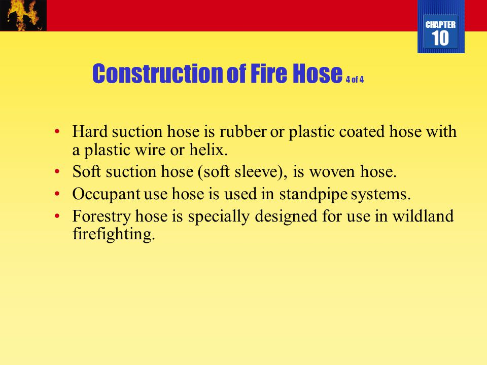 Construction of Fire Hose 4 of 4