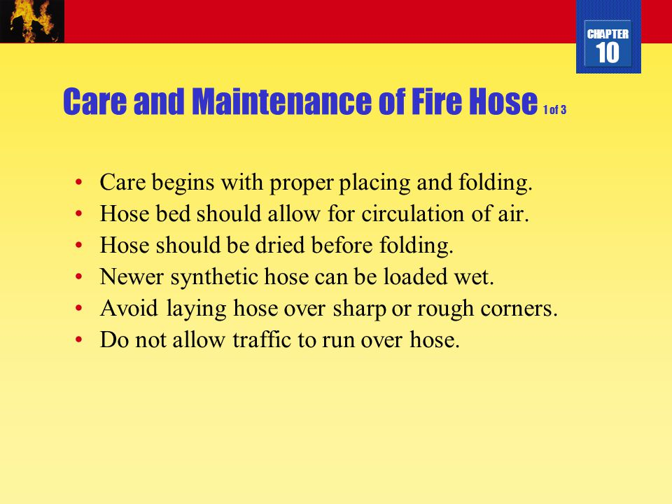 Care and Maintenance of Fire Hose 1 of 3