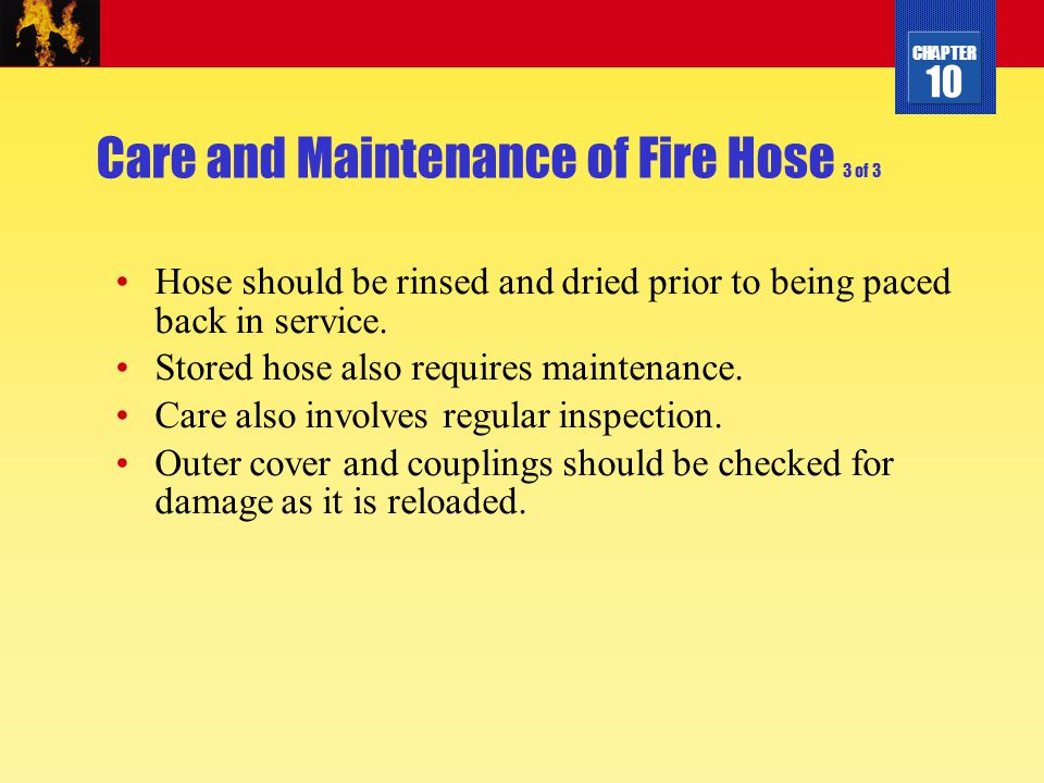 Care and Maintenance of Fire Hose 3 of 3