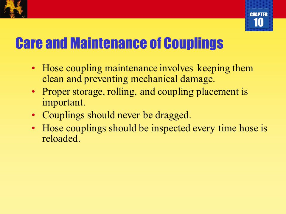 Care and Maintenance of Couplings