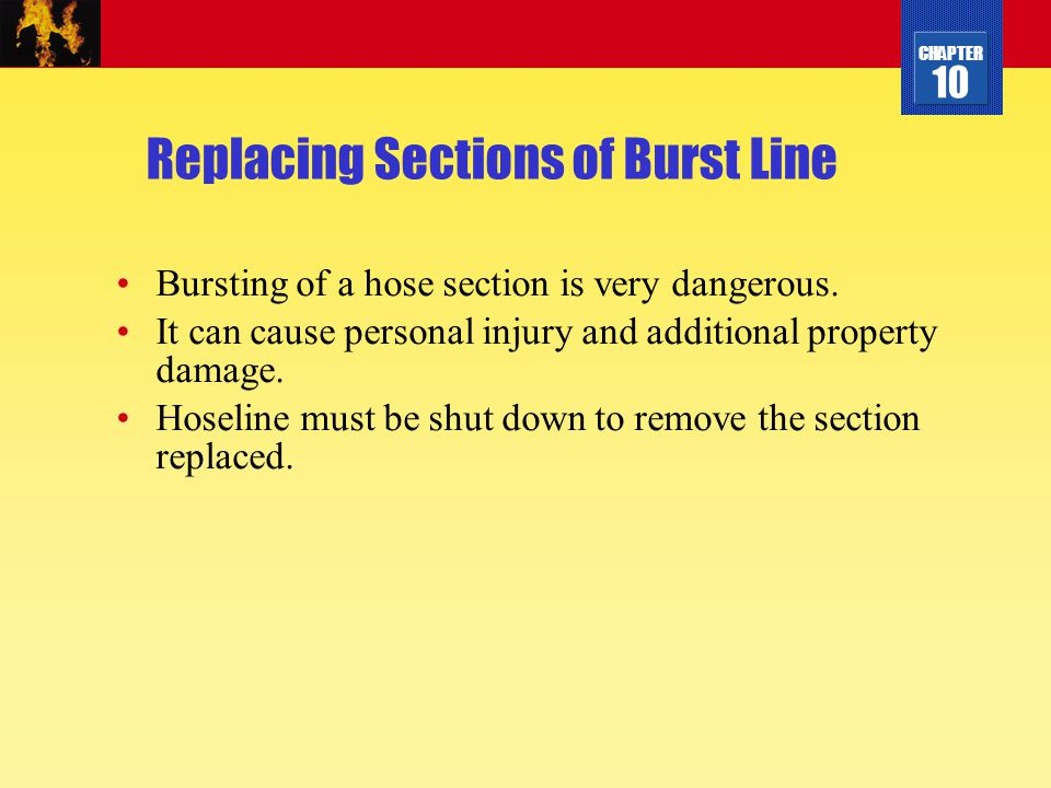Replacing Sections of Burst Line