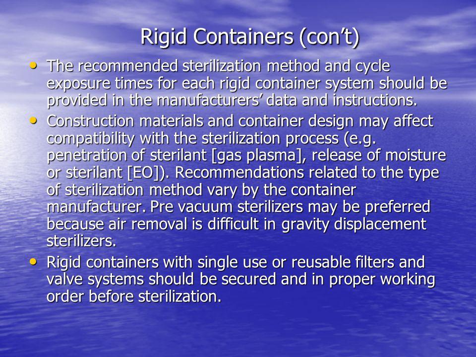 Rigid Containers (con't)