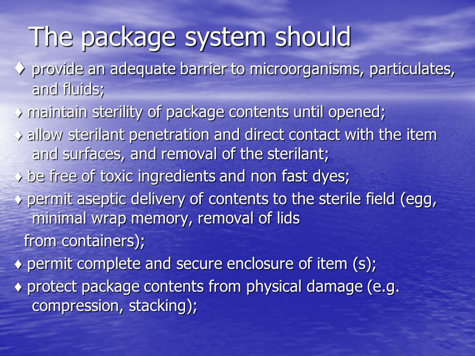 The package system should