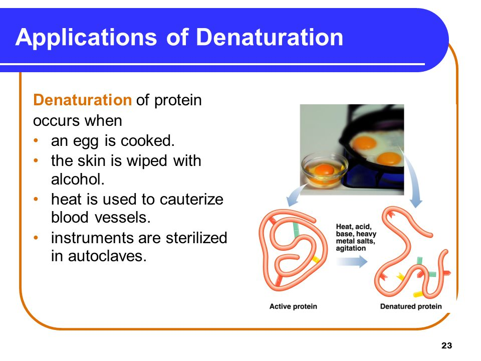 Applications of Denaturation