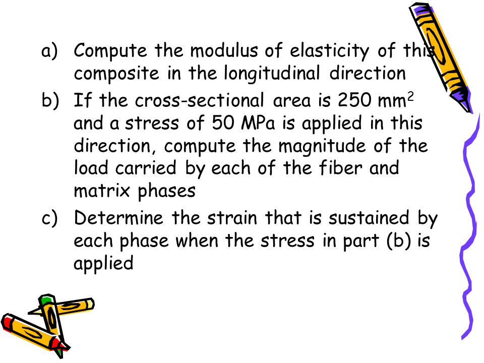 Compute the modulus of elasticity of this composite in the longitudinal direction