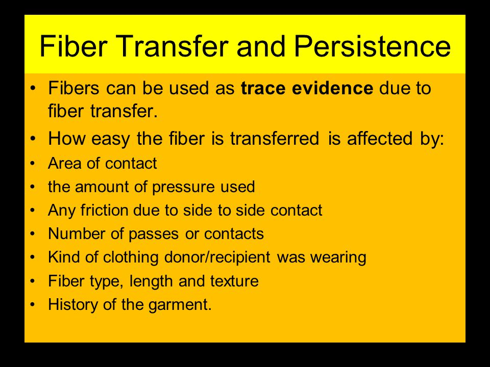 Fiber Transfer and Persistence
