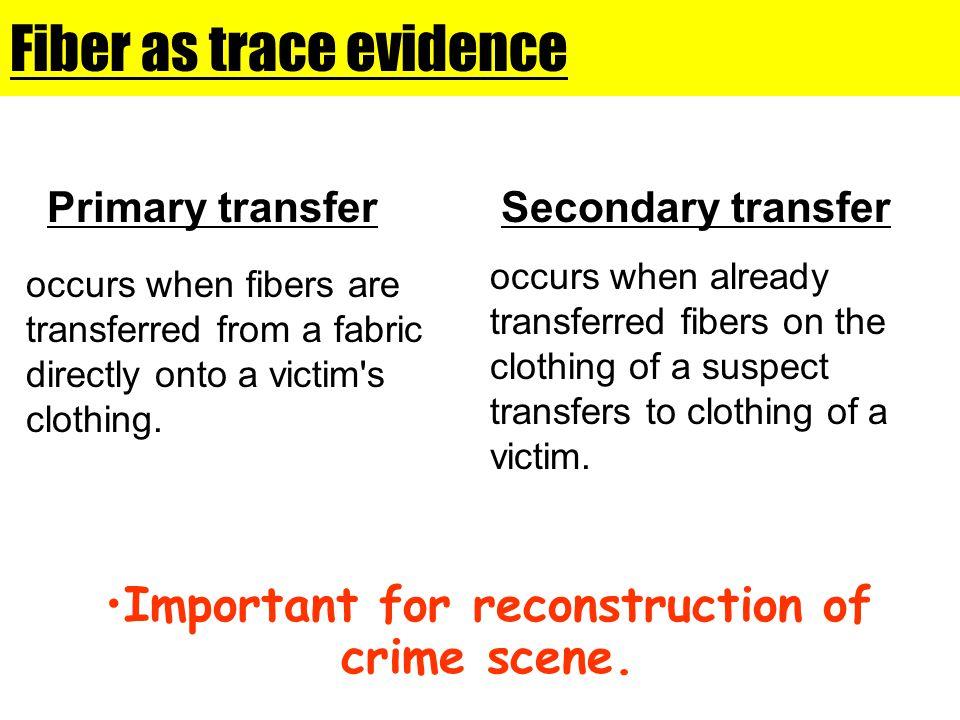 Fiber as trace evidence