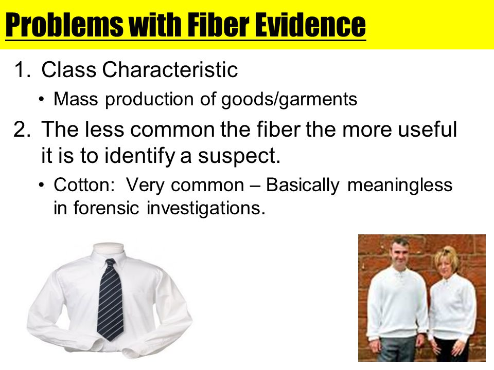 Problems with Fiber Evidence