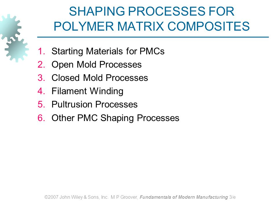 SHAPING PROCESSES FOR POLYMER MATRIX COMPOSITES