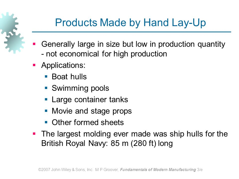 Products Made by Hand Lay‑Up