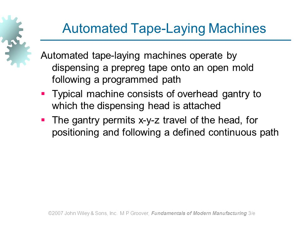 Automated Tape‑Laying Machines