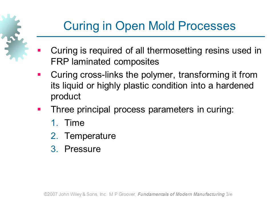 Curing in Open Mold Processes
