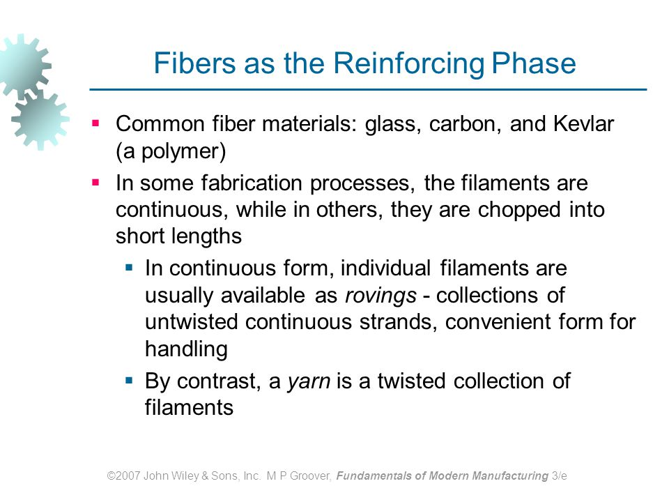 Fibers as the Reinforcing Phase