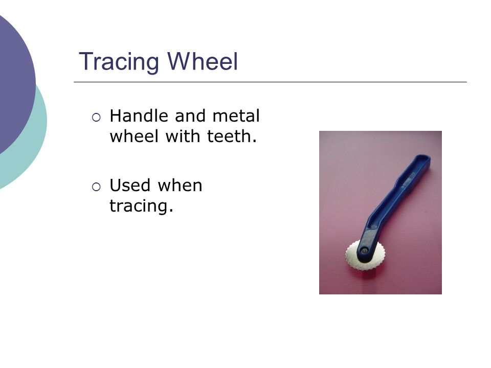 Tracing Wheel Handle and metal wheel with teeth. Used when tracing.