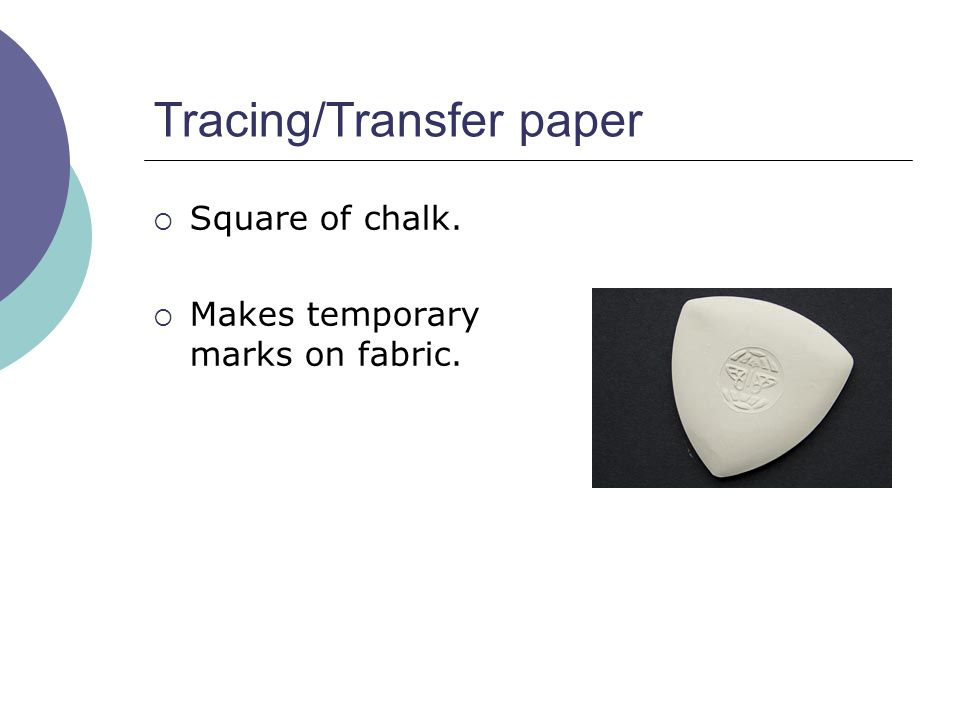 Tracing/Transfer paper