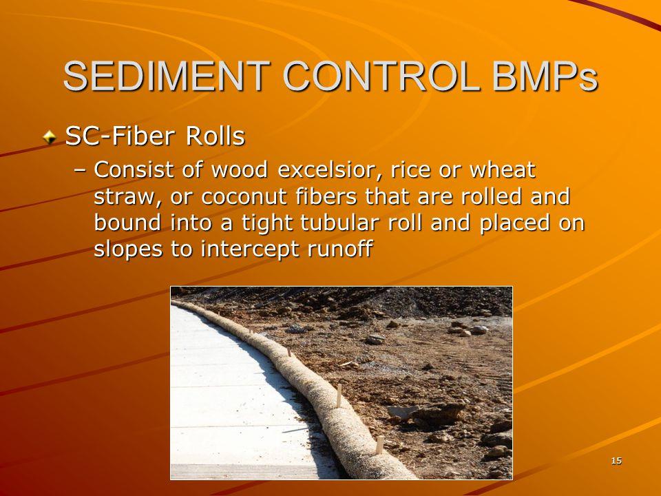 SEDIMENT CONTROL BMPs SC-Fiber Rolls