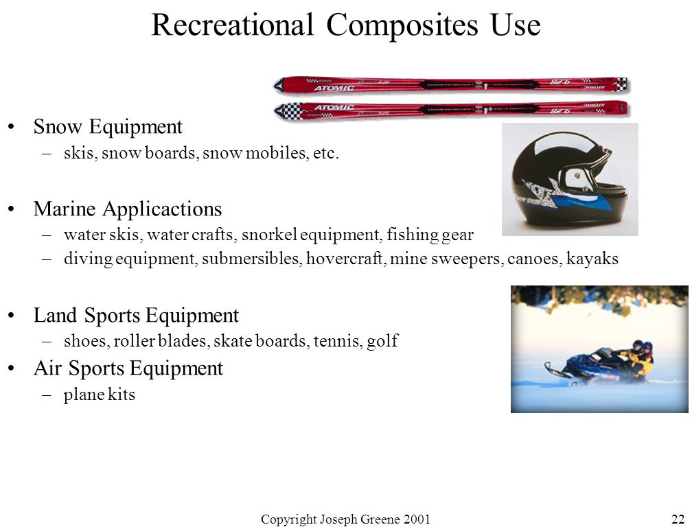 Recreational Composites Use