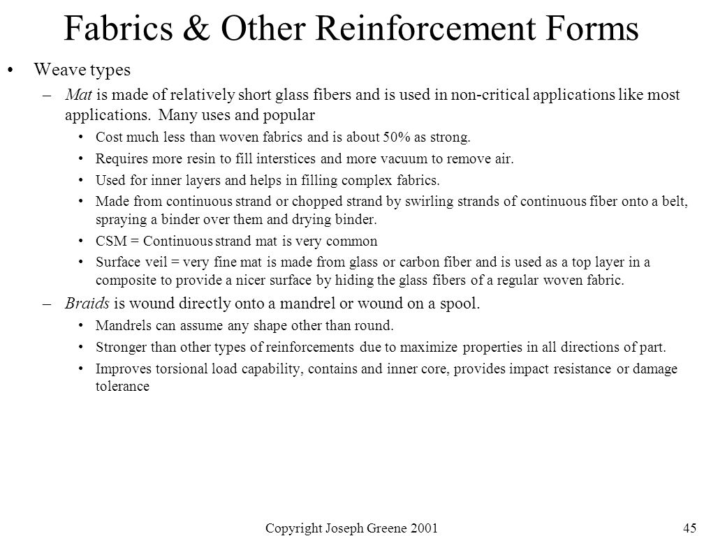 Fabrics & Other Reinforcement Forms